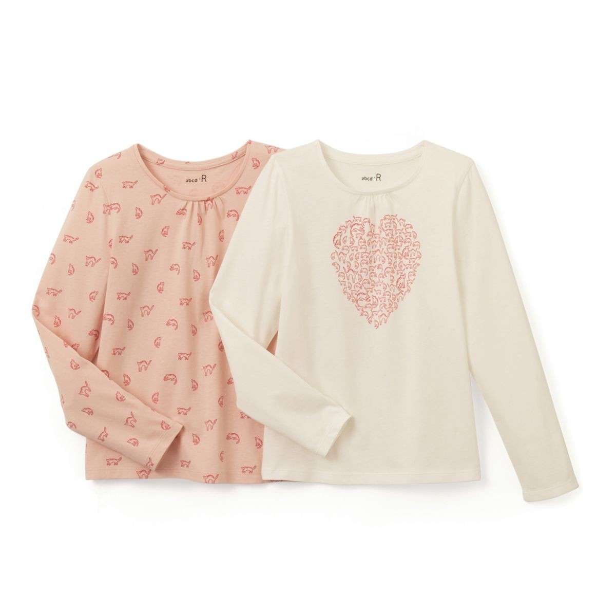 LA REDOUTE 猫モチーフ☆長袖カットソー2枚セット