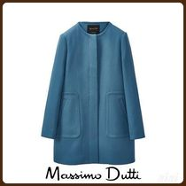 MassimoDutti♪BLUE COAT WITH POCKET DETAILS