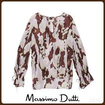 MassimoDutti♪PRINTED SHIRT WITH BOW DETAIL