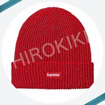 【17AW】Supreme Reflective Loose Gauge Beanie ニット帽 Red