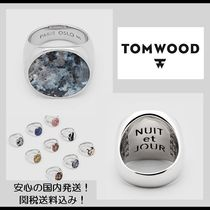 【関税&送料込】**Tom Wood**Flush Larvikite Circle・シルバー