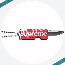 【17AW】Supreme Quiet Carry Knife Keychain ロゴ キーホルダー