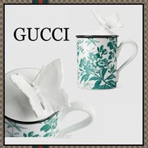 【17-18AW最新作!】Gucci Decor★Herbarium butterflyマグカップ