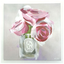 Oliver Gal 小さい 41x41cm Rose Candle キャンバスアート