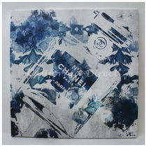 Oliver Gal 大きい 76x76cm Blue Flower Scent キャンバスアート