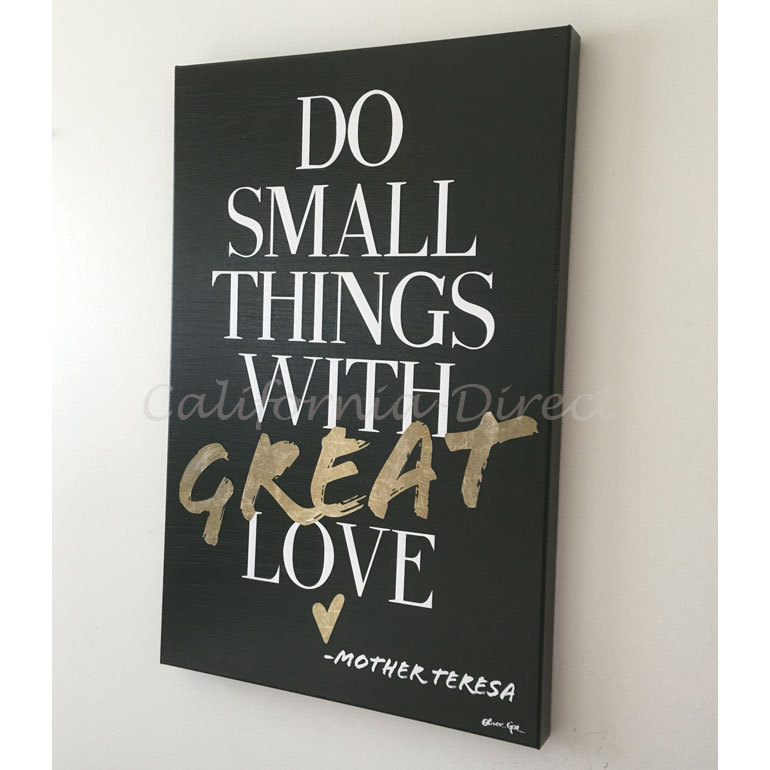 Oliver Gal 大きい 61x91cm Do Things With Love キャンバス