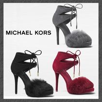 SALE◆MK◆ファーパンプス◆Remi Fur and Suede Sandal