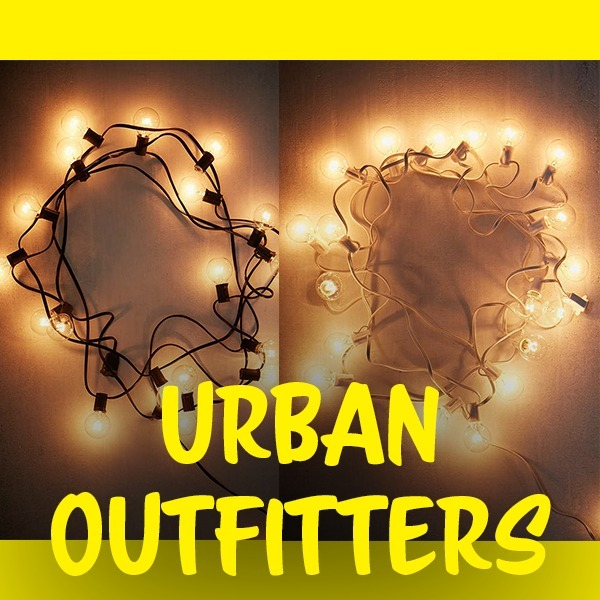 【UrbanOutfitters発】Globe String Lights Black/White