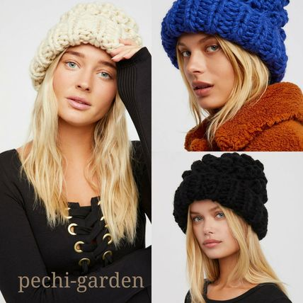 Free People-送料無料-★Chunky Bobbleニットキャップ-3color★