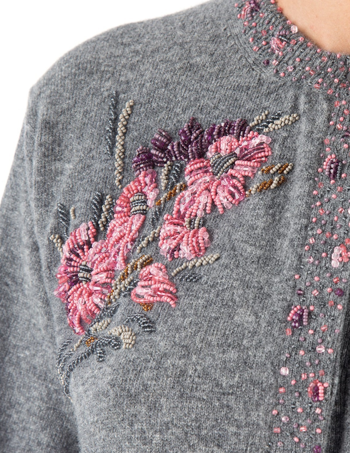 PR783 EMBELLISHED VIRGIN WOOL CARDIGAN