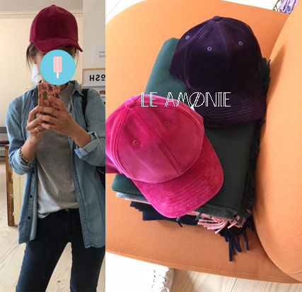 DK::LE AMONIE::一押し!!ベルベットキャップ::