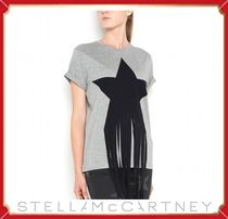 Stella McCartney t-shirt with star patch and fringes☆送料込