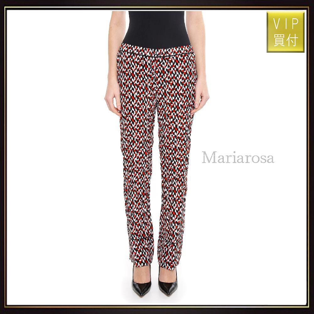 【マルニ】Printed Silk Trousers パンツ