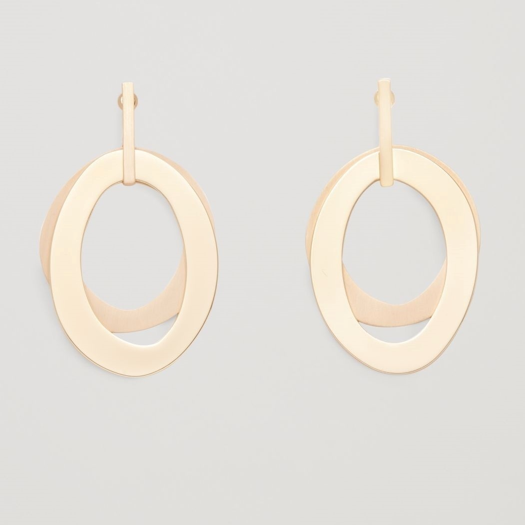 """""""COS""""LAYERED METAL EARRINGS GOLD"""
