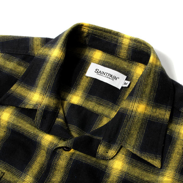 ★SAINTPAIN★日本未入荷 SP LUFKIN CHECK SHIRT LS YELLOW