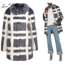 Shrimps◆チェック柄コートEdith checked faux fur coat
