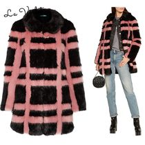 Shrimps◆コートEdith checked faux fur coat 関税込み