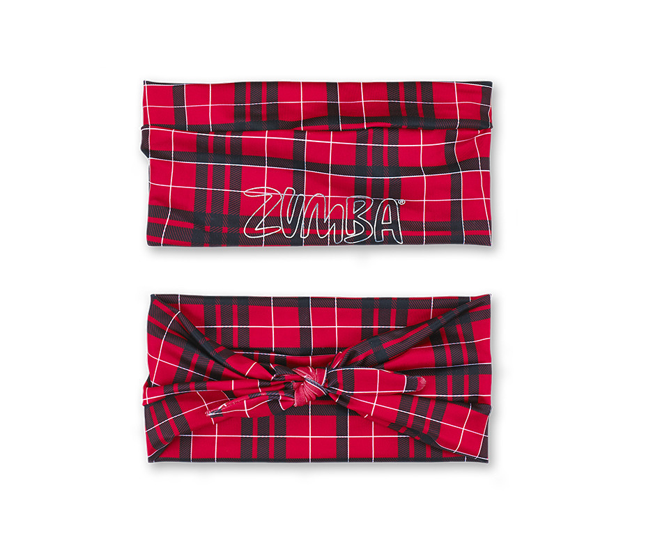 最新♪ZUMBAズンバDance It Out Wide Headbandヘッドバンド -Red