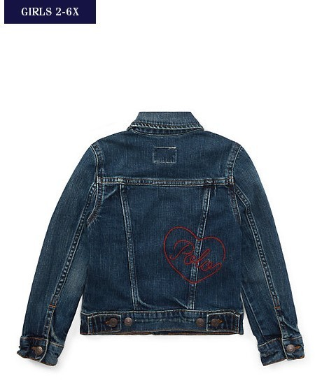 新作♪ 国内発送 EMBROIDERED DENIM JACKET girls 2~6X