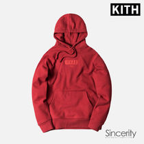 KITH VOGUE HOODIE / POMPEAIN RED / SMALL