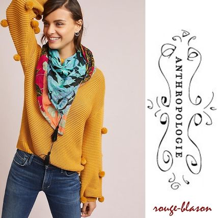 Floral Waves Square Scarf