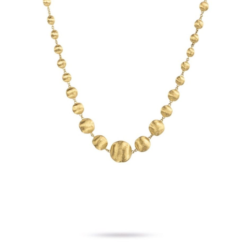 【Marco Bicego】18K Gold Mixed Bead Necklace【国内発送】