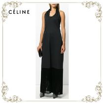 【17AW】★CELINE★asymmetric back halterneck dress