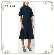 【17AW】大人気★CELINE★textured stripe dress