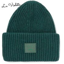 Acne◆ニットキャップAppliqued Ribbed Wool-Blend Beanie