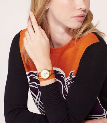 Tory Burch COLLINS WATCH DOUBLE-WRAP, NAVY/GOLD , 32MM