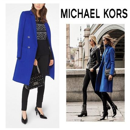 新作【Michael Kors】Wool-Blend Officer's Coat