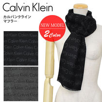 Calvin Klein CK マフラー WVN ALL OVER LOGO STRIPE HKC73660