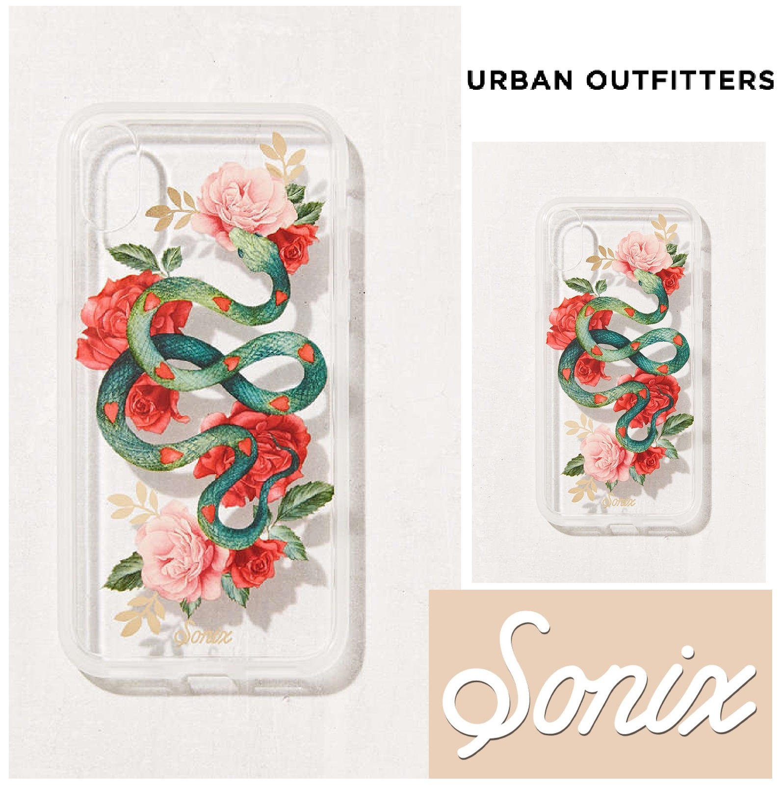 Urban Outfitters☆Sonix Snake Heart iPhone X Case☆