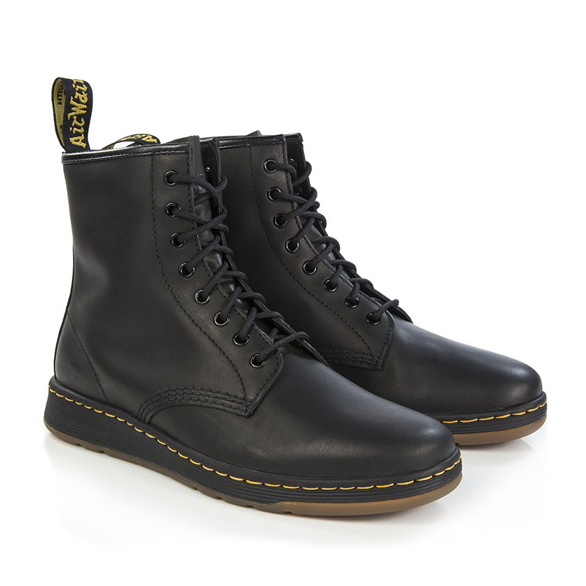 関送込【Dr Martens】LITE NEWTON 8 Eyeブーツ/BLACK TEMPERLEY