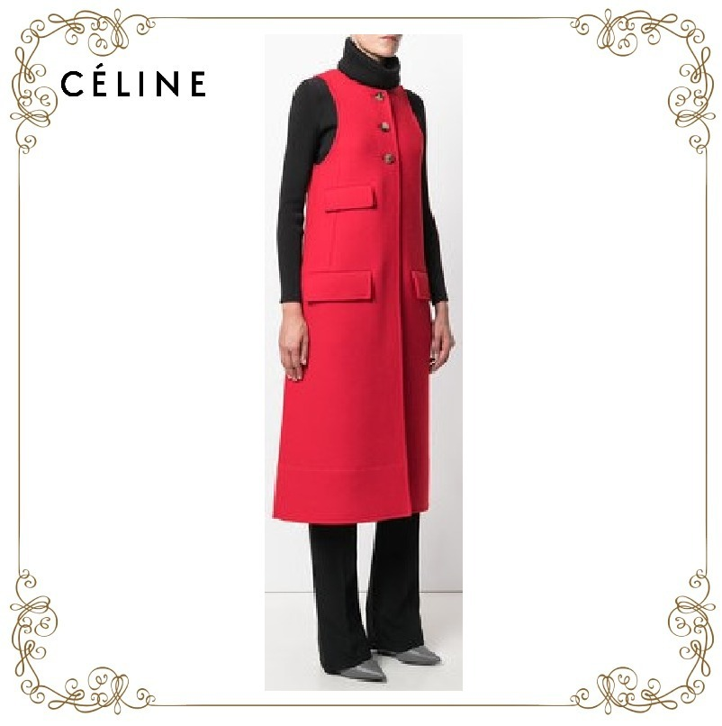 【17AW】大人気★CELINE★sleeveless coat