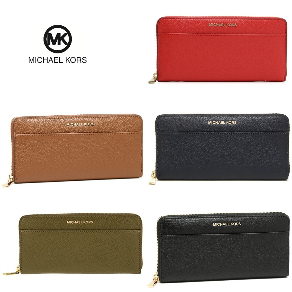 国内即発★MICHAEL KORS★MERCER ZA CONTINENTAL PEBBLE 長財布