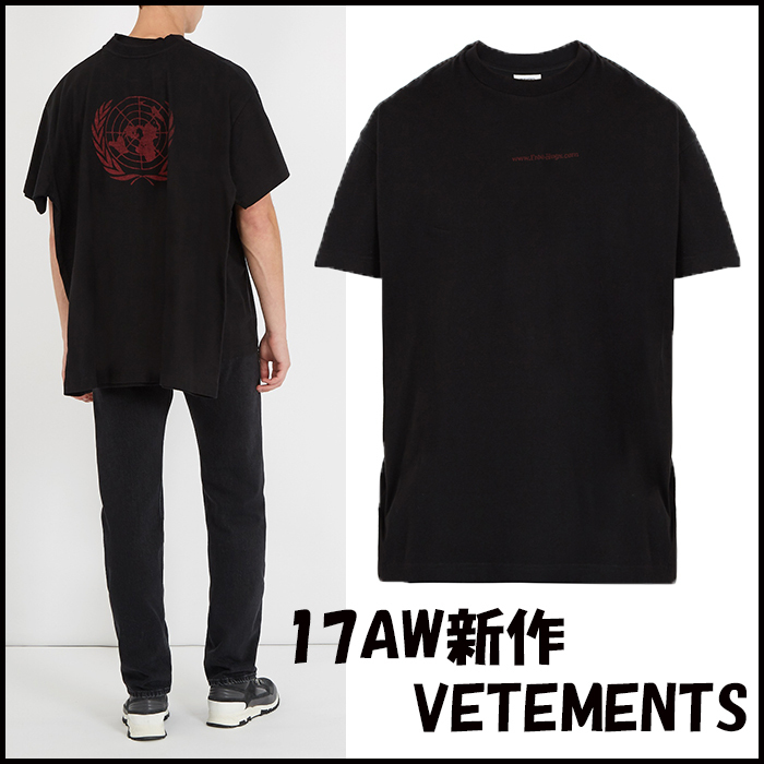 17AW新作 VETEMENTS Free Hugs-print multi Tシャツ
