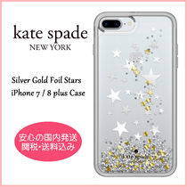 【国内発送】Silver Gold Foil Stars iPhone 7 / 8 plus Case