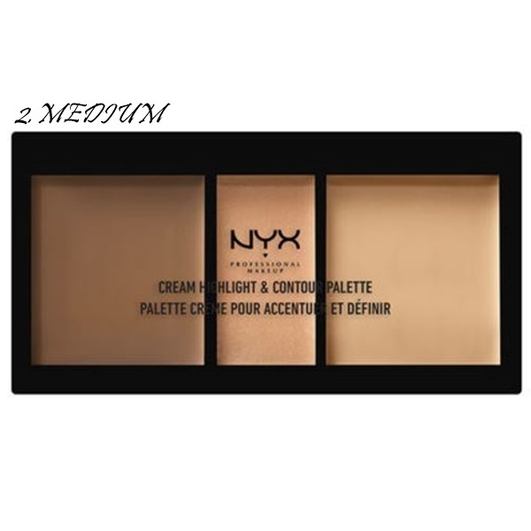 NYX☆CREAM HIGHLIGHT & CONTOUR PALETTE メイクに立体感を!