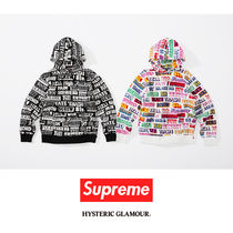 SUPREME17AW HYSTERIC GLAMOUR TEXT Hooded Sweatshirt コラボ
