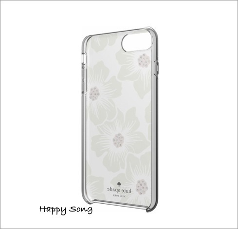 kate spade◆iPhone 8 Plus◆可愛い hollyhock floral クリア