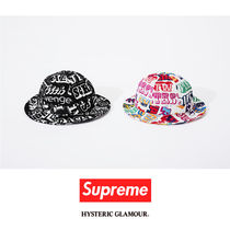 SUPREME17AW HYSTERIC GLAMOUR TEXT BELL HAT コラボ