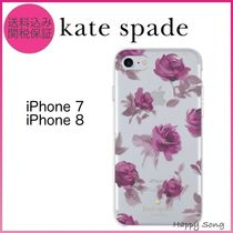 kate spade◆iPhone 8ケース◆可愛いローズ◆クリア