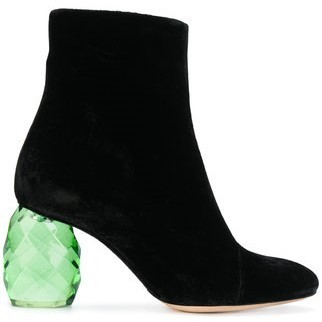 【17AW】大人気★Dries Van Noten★velvet ankle boots