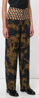 【17AW】★Dries Van Noten★printed high waisted trousers