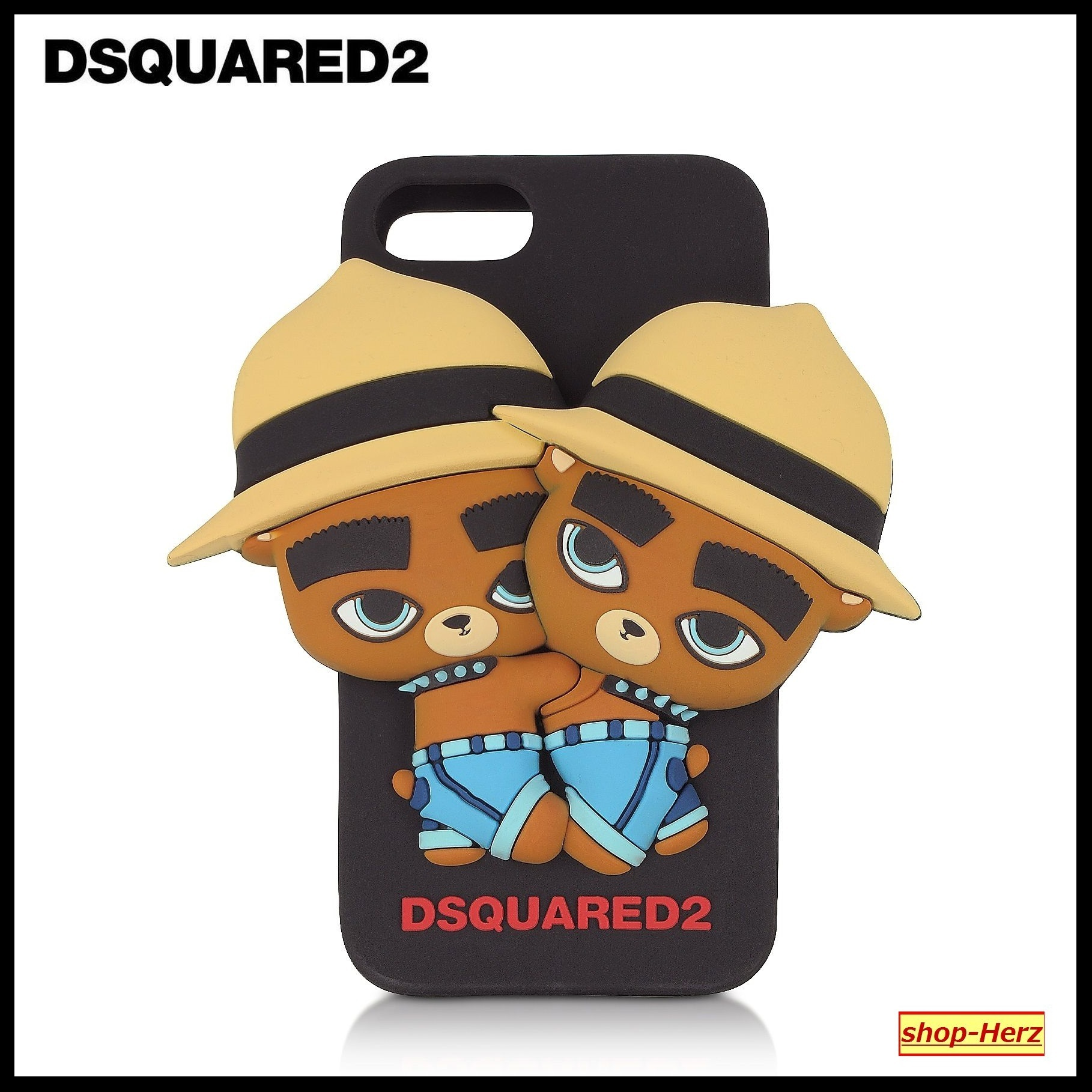 ★D SQUARED2★ Black Silicone iPhone7 ケース 関税込