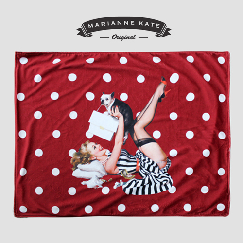 ★Marianne kate★韓国直送料込★Lucky Dog Blankets(WINE)