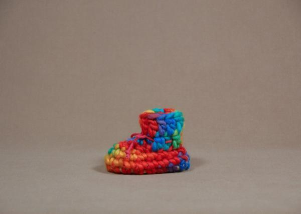 【 Padraig Cottage 】★ Newborn Slipper / Rainbow