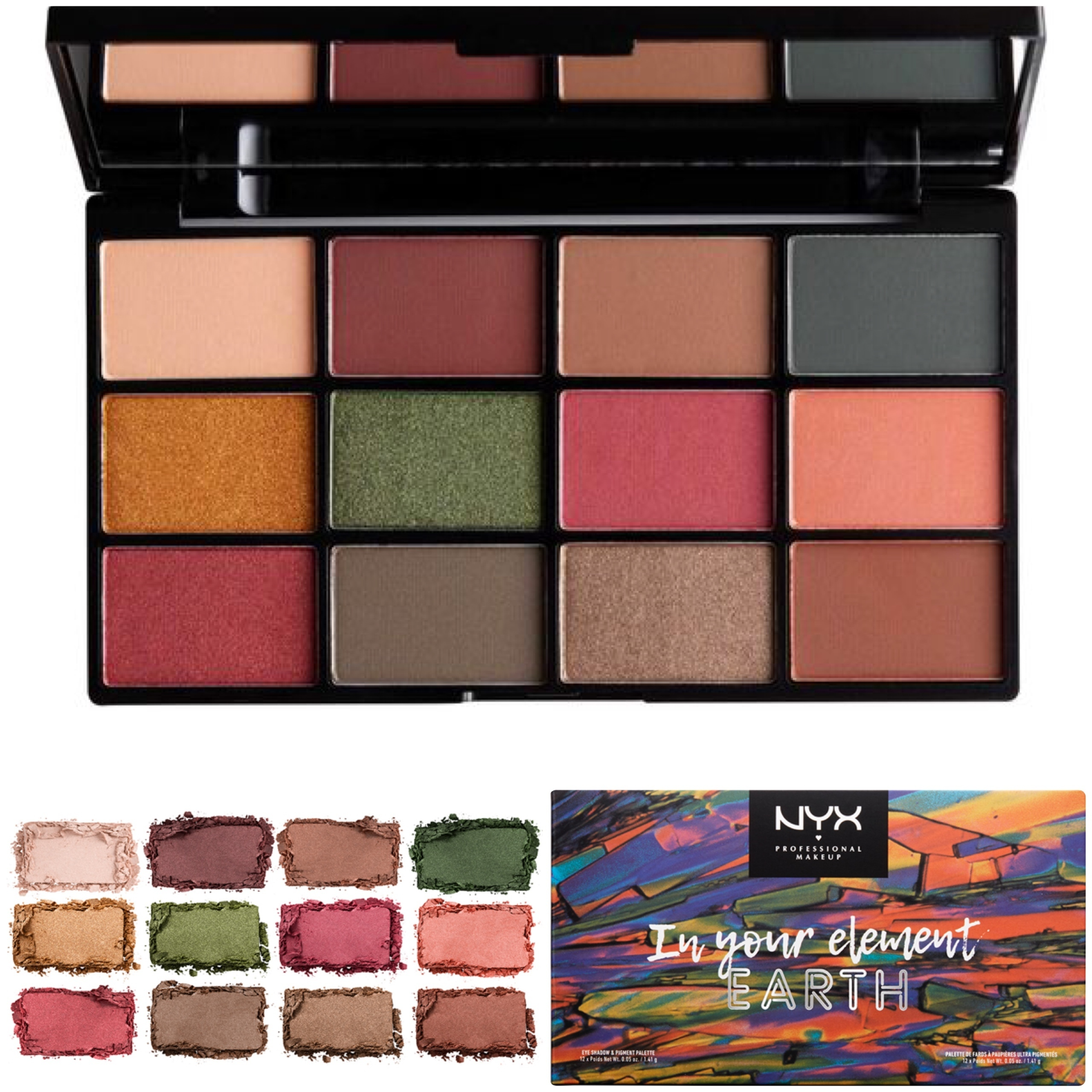 NYX 新作 IN YOUR ELEMENT SHADOW PALETTE 1個 送料込