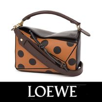 LOEWE Puzzle Circles Calfskin Leather Bag